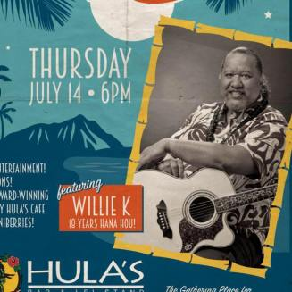 Willie K on the Hula's Bar and Lei Stand 42nd Anniversary Invite in 2016